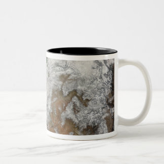 Satellite view of the western United States Coffee Mugs