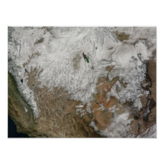 Satellite view of the western United States Poster