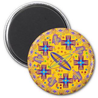 Satellites Mandala Magnet