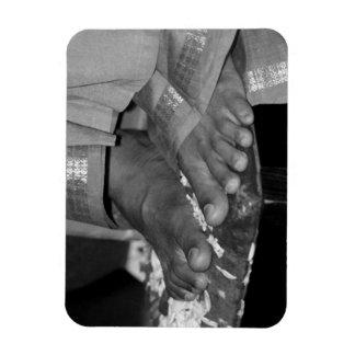 Sathya Sai Baba Lotus Feet Photo Magnet