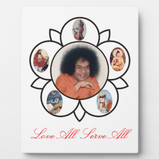 Sathya Sai Baba on Photo Plaques with Esel