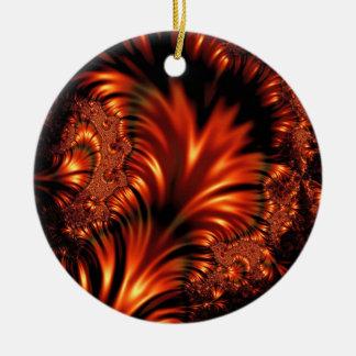 Satin and Firelight Fractal Ornament