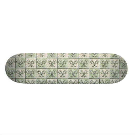 Satin and Floral Bows Skate Board Deck