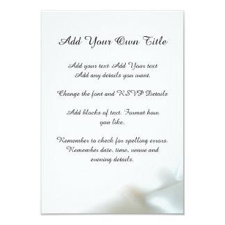 Satin Effect White Romance Simple Wedding Invite
