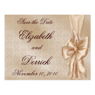 Satin Elegance Save the Date Postcard
