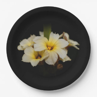 Satin Flowers Paper Plate