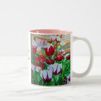 Satin Hearts Two-Tone Coffee Mug