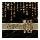 Satin Jewel Sweet Sixteen Black Gold ID260 Poster