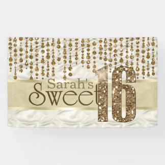 Satin Jewel Sweet Sixteen Gold ID260 Banner