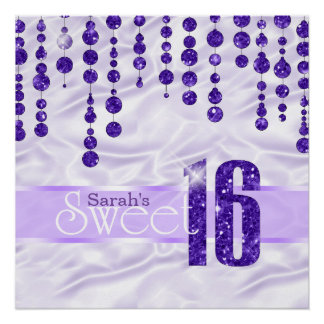 Satin Jewel Sweet Sixteen Purple ID260 Poster