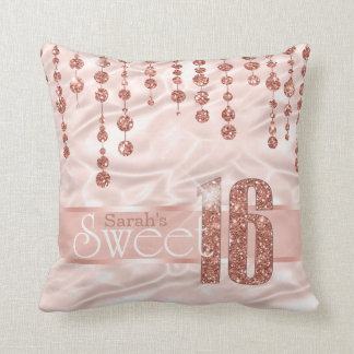 Satin Jewel Sweet Sixteen Rose Gold ID260 Cushion