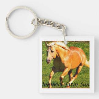 Satin Key Chain~ Single-Sided Square Acrylic Key Ring