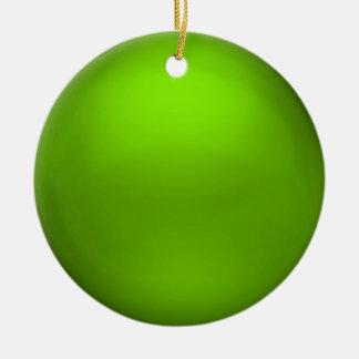 Satin Lime Orb Ornament