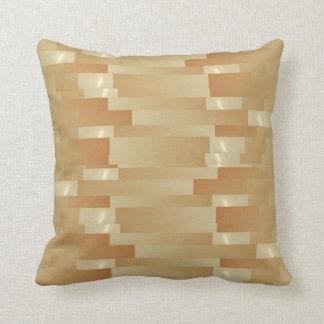 Satin Silk Golden Strips - Shadow Art101 Throw Pillow