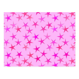 Satin stars, orchid on pale pink post cards