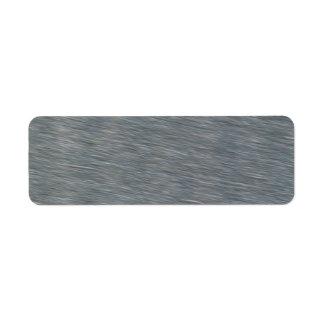 Satin Steel Background Texture Return Address Label