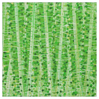 Satin Stripes and Dots Abstract, Lime Green Fabric