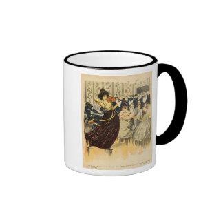 Satire of a salon musical evening coffee mug