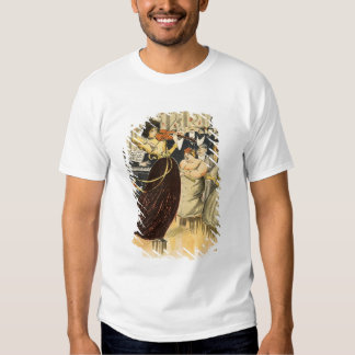 Satire of a salon musical evening shirts