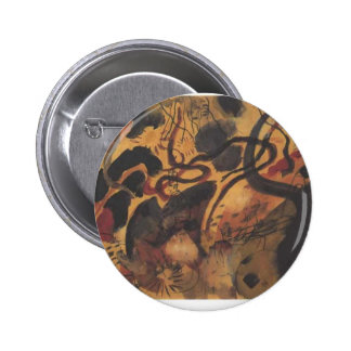 Satire to the Blue Rider by August Macke 6 Cm Round Badge