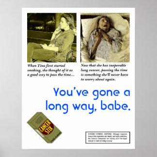 Satirical Anti-Smoking Poster