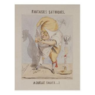 Satirical Fantasies, caricature of Adolphe Postcard