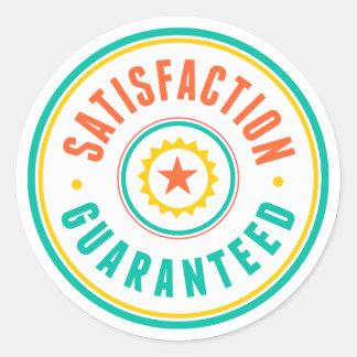 Satisfaction Guaranteed Round Sticker