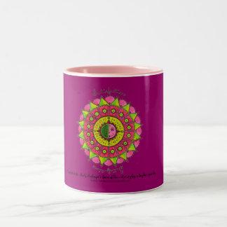 Satisfaction - Pink two tone coffee mug(dk pink) Two-Tone Mug
