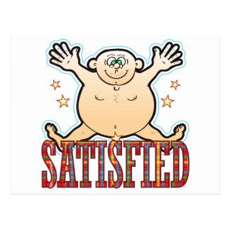 Satisfied Fat Man Postcard
