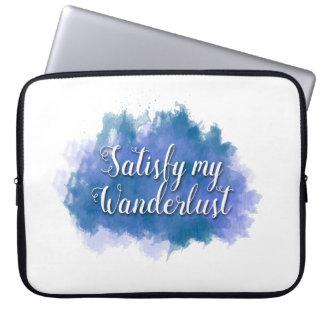 "Satisfy My Wanderlust 15"" laptop case"