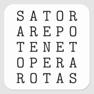 Sator square square sticker