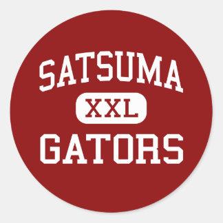 Satsuma - Gators - High School - Satsuma Alabama Classic Round Sticker