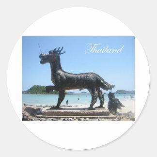 Sattahip, Thailand 2 Round Sticker