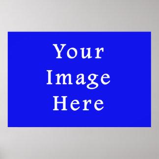 Saturated Blue Hanukkah Chanukah Hanukah Template Poster
