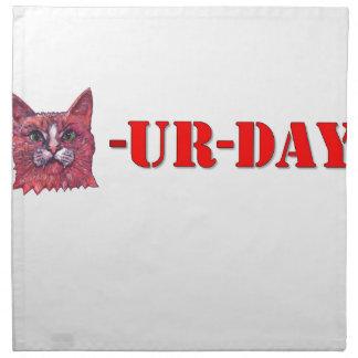 Saturday is Caturday Napkin