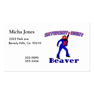 Saturday Night Disco Beaver Double-Sided Standard Business Cards (Pack Of 100)