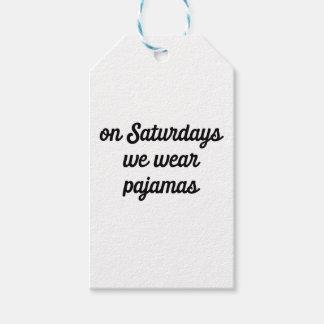 Saturday Pajamas Gift Tags