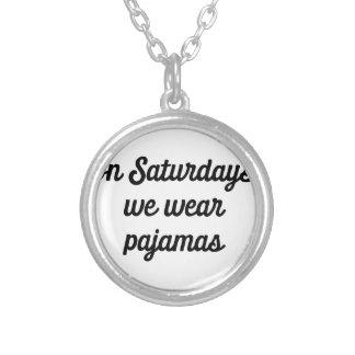 Saturday Pajamas Silver Plated Necklace