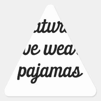 Saturday Pajamas Triangle Sticker