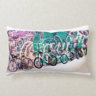 Saturday Ride on two sided pillow