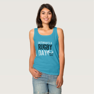 Saturday's a Rugby Day BLUE Singlet