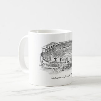 Saturdays in knoxville coffee mug