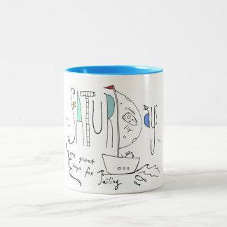 Saturday's Two-Tone Coffee Mug