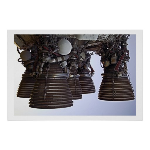 Saturn 5 Engines Poster