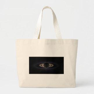 Saturn Aglow Large Tote Bag