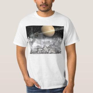 Saturn and Enceladus T-Shirt