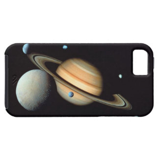 Saturn and satellites iPhone 5 cover