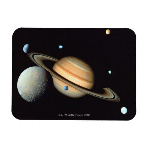 Saturn and satellites flexible magnet