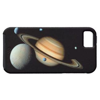 Saturn and satellites tough iPhone 5 case
