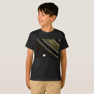 Saturn and Tethys, kids' tagless t-shirt